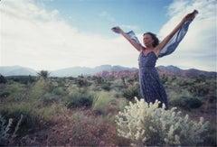 Joni Mitchell in Desert, 1970