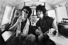 Keith Richards & Ronnie Wood, Lear Jet, 1979