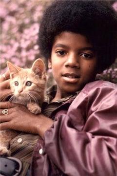 Michael Jackson with Kitten, 1971