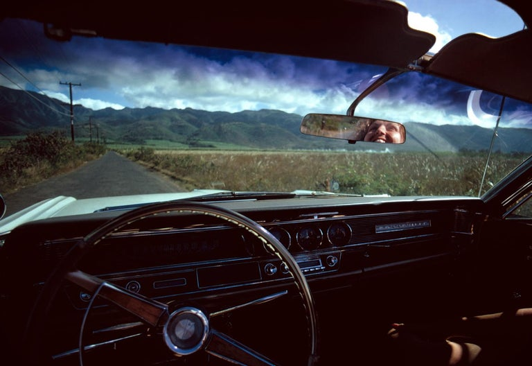 Henry Diltz Color Photograph - Rear View Mirror