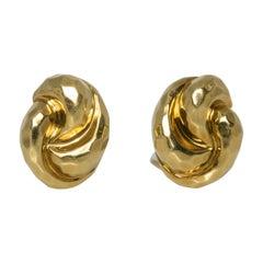 Henry Dunay 18 Karat Gold Clip Earrings