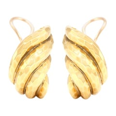 Henry Dunay 18 Karat Shrimp Style Clip-On Earrings