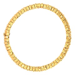 Henry Dunay 18 Karat Yellow Gold Hammer Finished Necklace