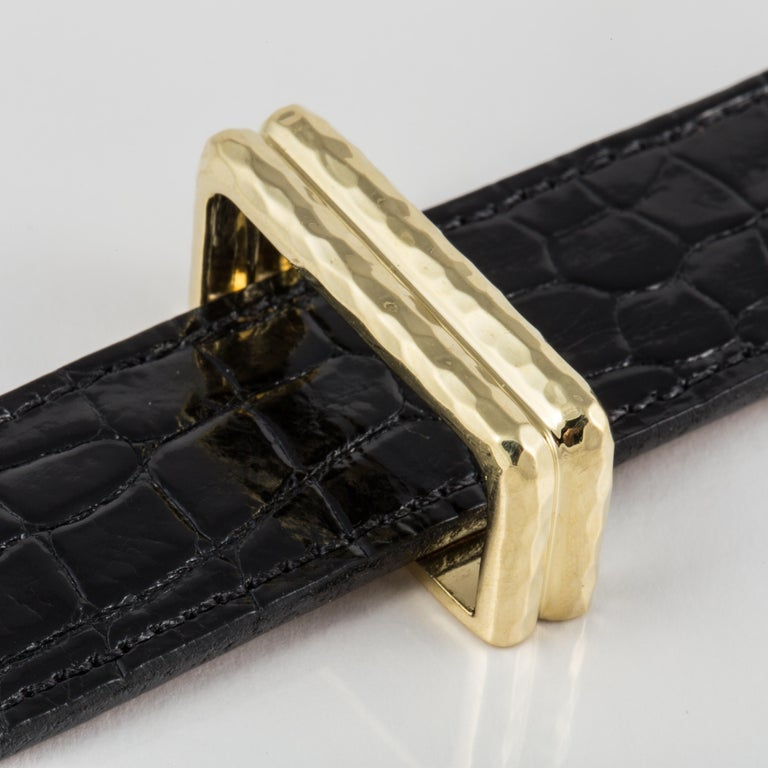 Henry Dunay 18 Karat Belt Buckle In Good Condition For Sale In Houston, TX