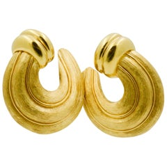 Henry Dunay 18 Karat Yellow Gold Clip Earrings