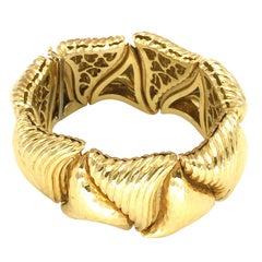 Henry Dunay 18k Yellow Gold Pillowed Link Bracelet