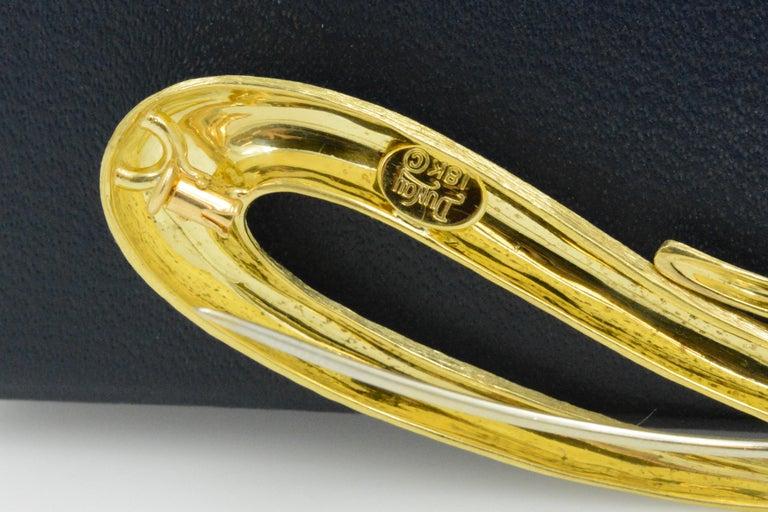 Modern Henry Dunay 18 Karat Yellow Gold Sabi Pin For Sale