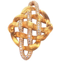 Henry Dunay Broach with Diamonds