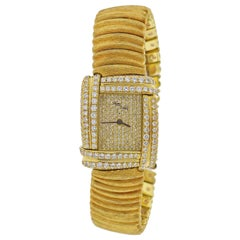Henry Dunay Diamond Gold Watch Bracelet