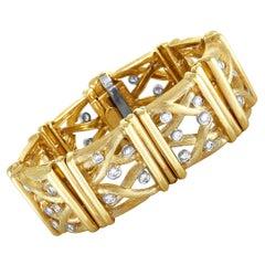 Henry Dunay Diamond Yellow Gold Bracelet
