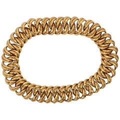 Henry Dunay Facet Gold Necklace