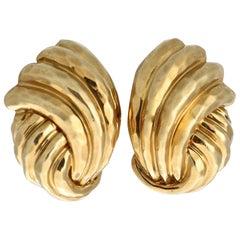 Henry Dunay Gold Earrings