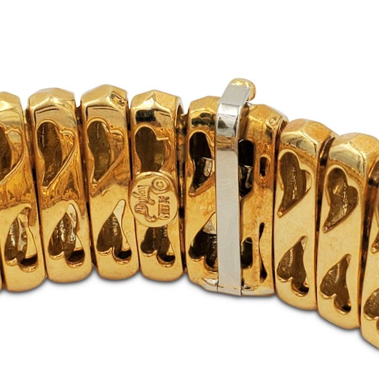 Women's or Men's Henry Dunay Hammered Gold Bracelet For Sale