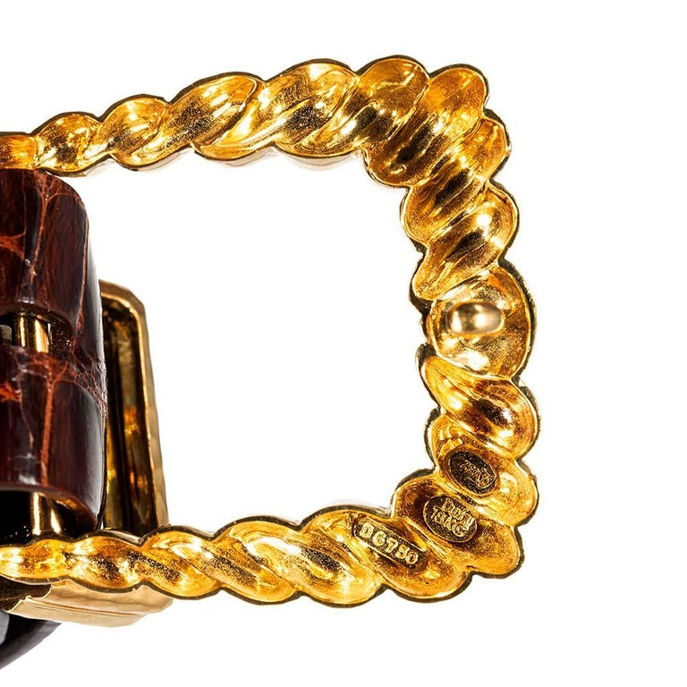 Henry Dunay Hammered Golden Belt In Good Condition In Carmel-by-the-Sea, CA