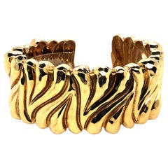 Henry Dunay Heavy Yellow Gold Cuff