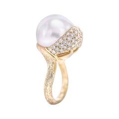 Henry Dunay Pearl Diamond Sabi Ring