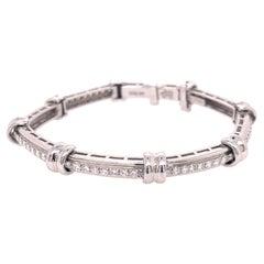 Henry Dunay Platinum Diamond Bracelet