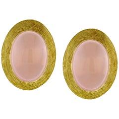 Henry Dunay Rose Quartz Saba Earrings