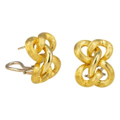 Henry Dunay Sabi and Shiny Open Knot Motif Earrings