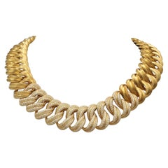 Henry Dunay 'Sabi' Gold and Diamond Pave Necklace