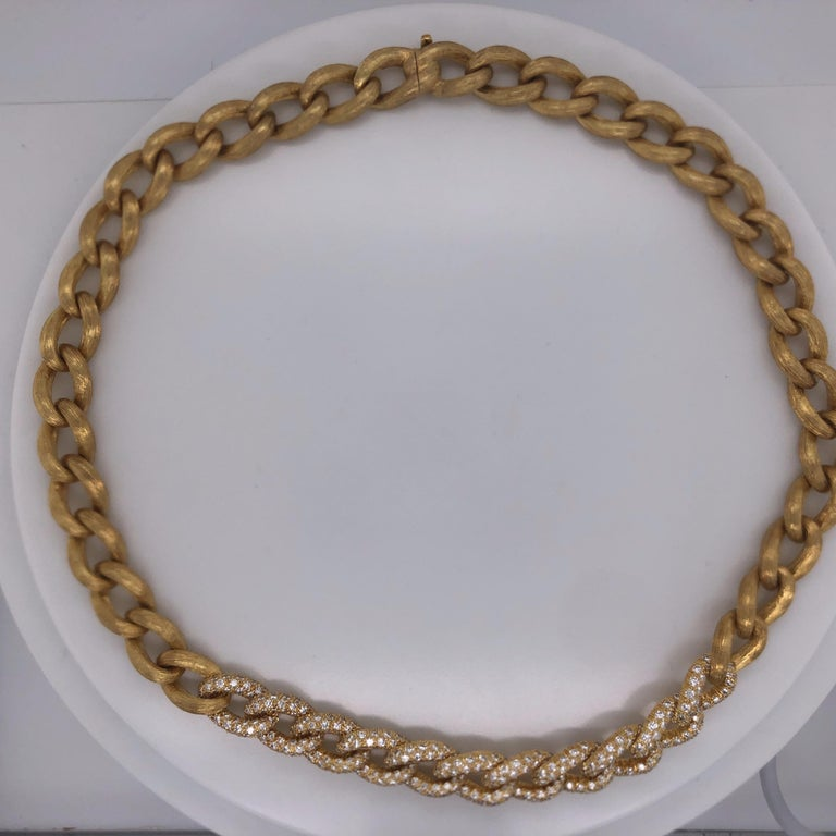 Henry Dunay Yellow Gold and Diamond Sabi Necklace For Sale 1