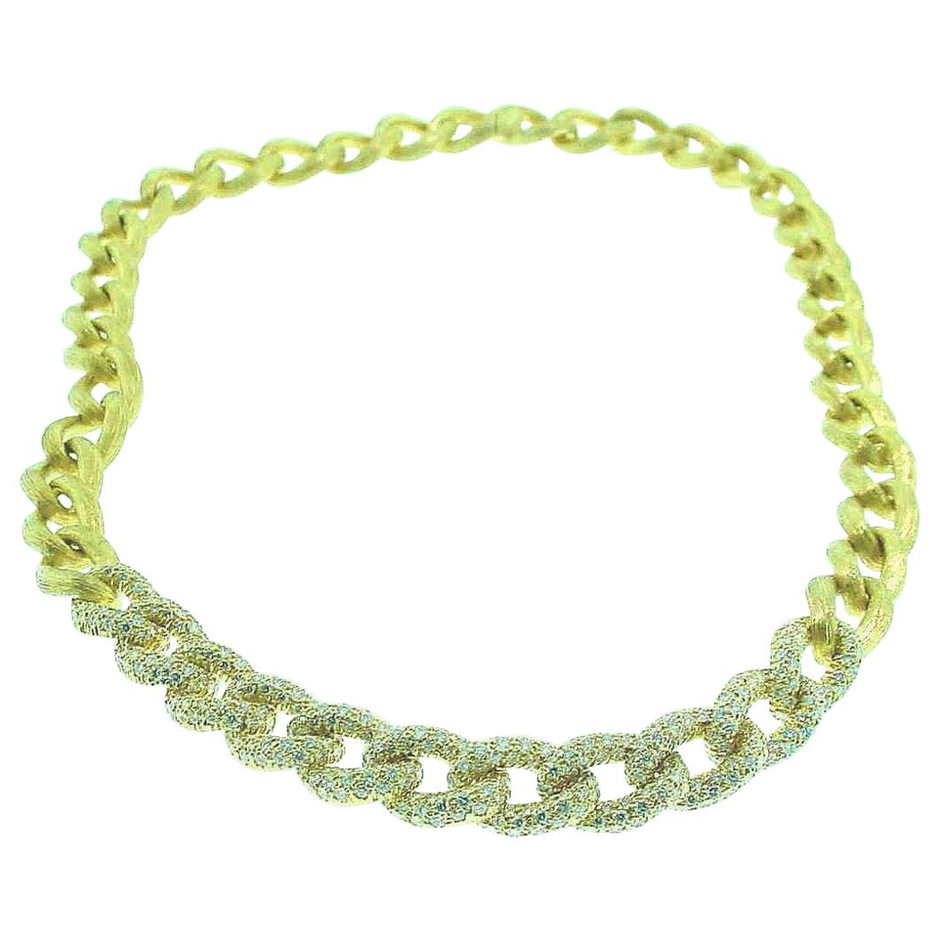 Henry Dunay Yellow Gold and Diamond Sabi Necklace
