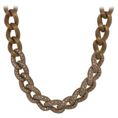 Henry Dunay Yellow Gold and Diamond Sabi Necklace