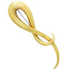 Henry Dunay Yellow Gold Brooch