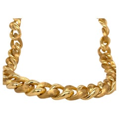 Henry Dunay Yellow Gold Sabi & Shiny Link Necklace
