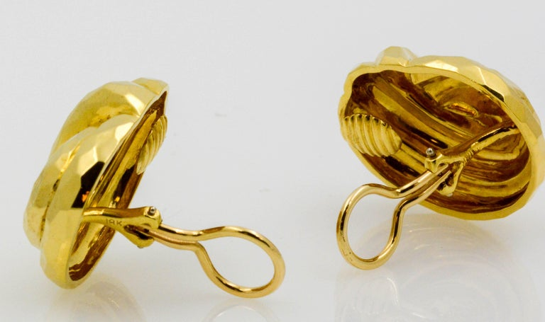 Henry Dunay Yellow Gold Swirl Style Clip Earrings For Sale 3
