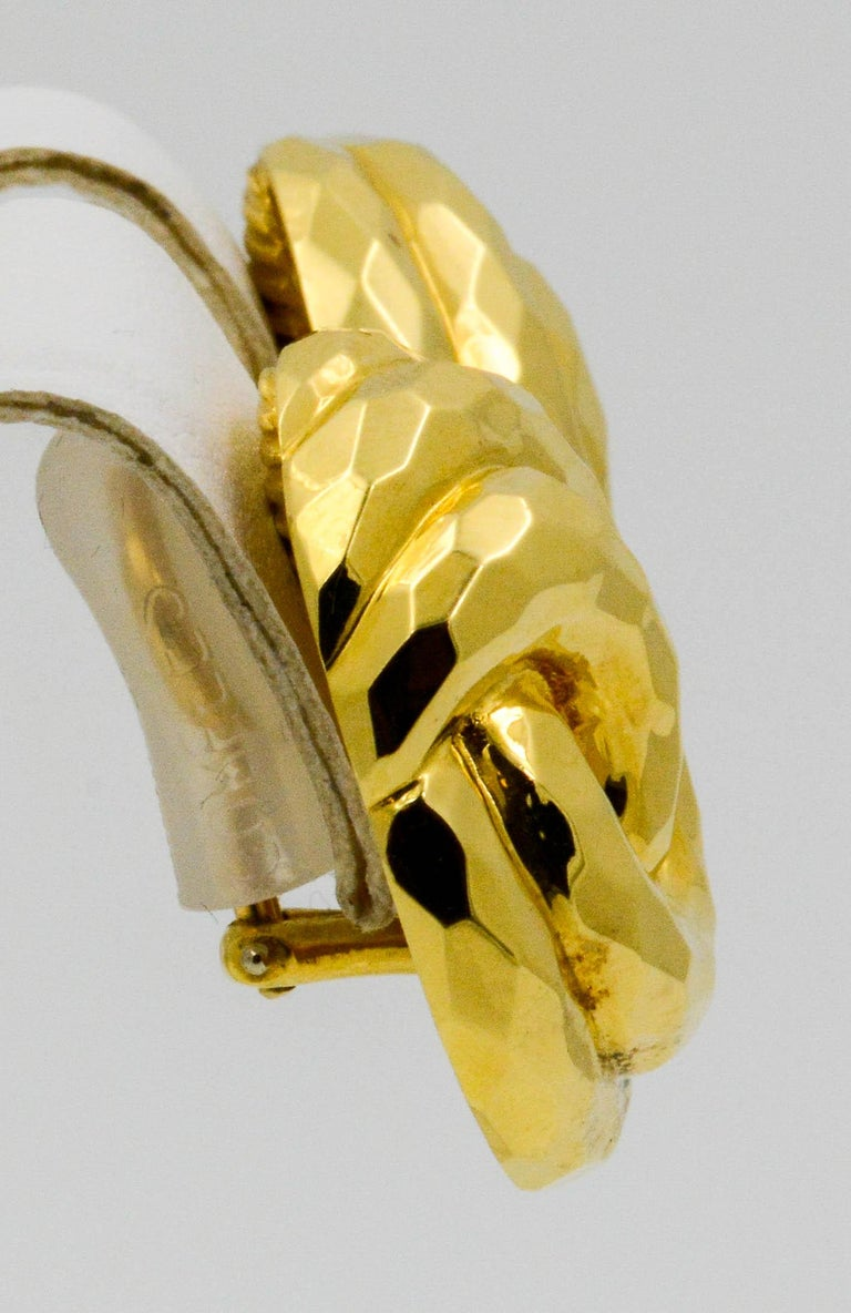 Henry Dunay Yellow Gold Swirl Style Clip Earrings For Sale 4