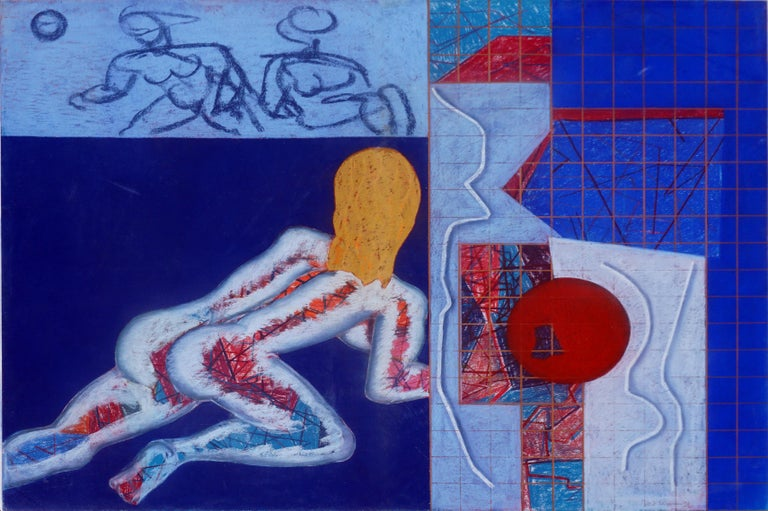 Modernist Avant-Gard Nude Figurative Abstract  - Painting by Henry Elinson