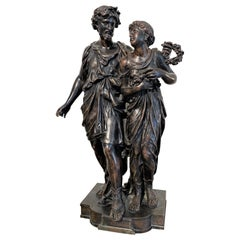 Henry Etienne Dumaige, 19th Century French Bronze Grouping