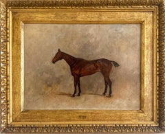 19th  century study of a chestnut horse, signed and dated