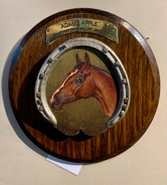 English 20th century portrait, the Racing Horse, Adams Apple, with a horseshoe