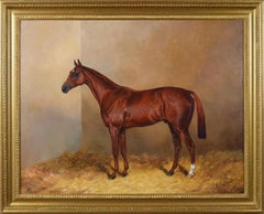 Sporting horse portrait oil painting