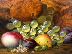 Still Lives With Grapes - A Pair Of Still Life Oil Paintings by H.G. Todd