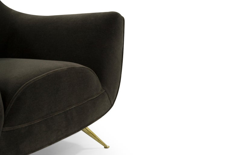 Henry Glass Lounge Chairs in Mohair For Sale 2