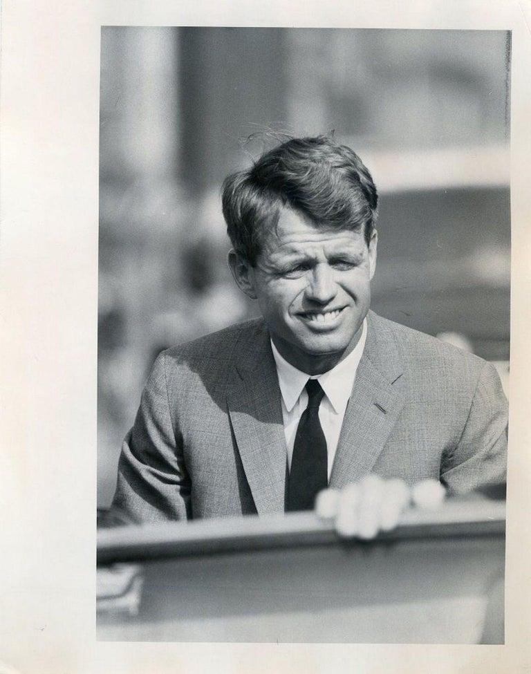 Henry Grossman Black and White Photograph - Portrait of Robert Kennedy - Press Photo by Robert Kennedy - 1968