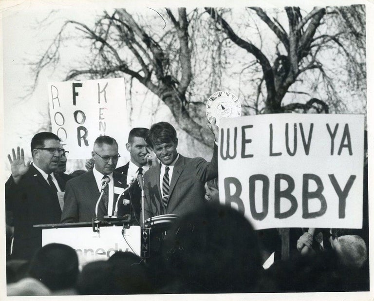 Henry Grossman Portrait Photograph - Robert Kennedy during his election campaign - Photo by Robert Grossman - 1968