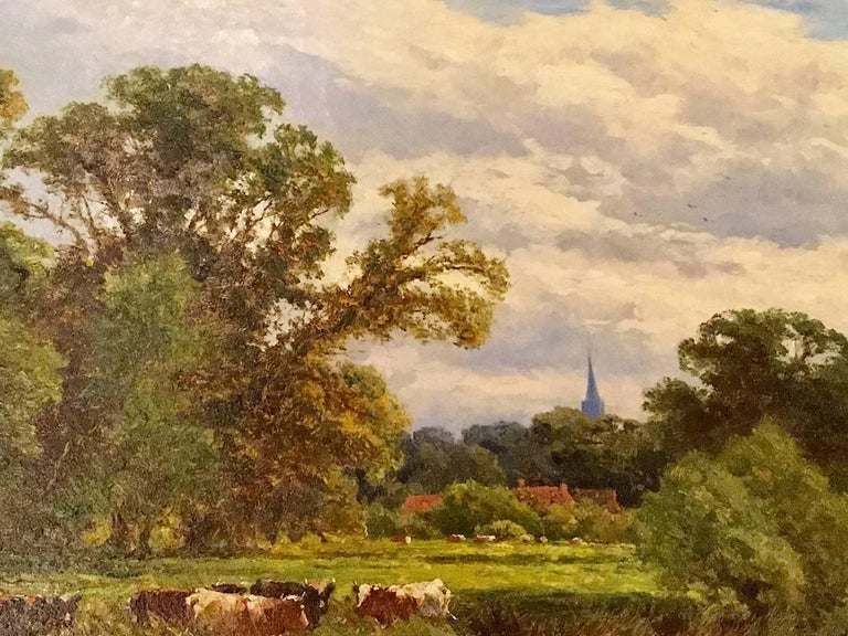 On the River Severn at Bridgnorth An English Landscape 18th / 19th Century  For Sale 1