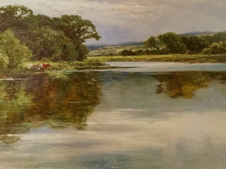 Henry H. Parker Landscape Painting - On the River Severn at Bridgnorth An English Landscape 18th / 19th Century
