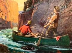 Men on Canoe