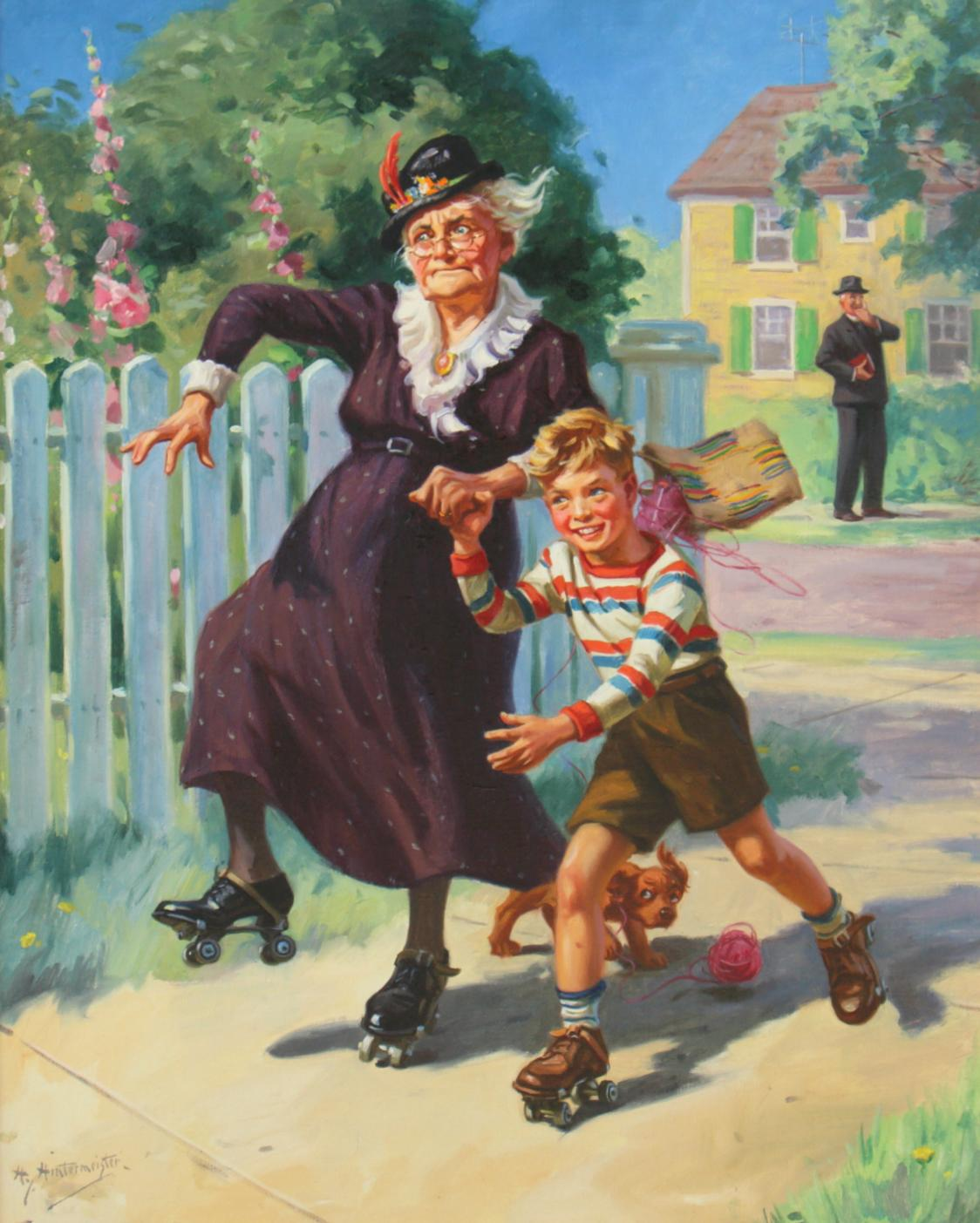 Skating with Granny