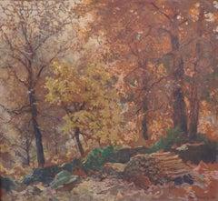 American Impressionist Salmagundi Club Artist Oil Painting Henry Hobart Nichols