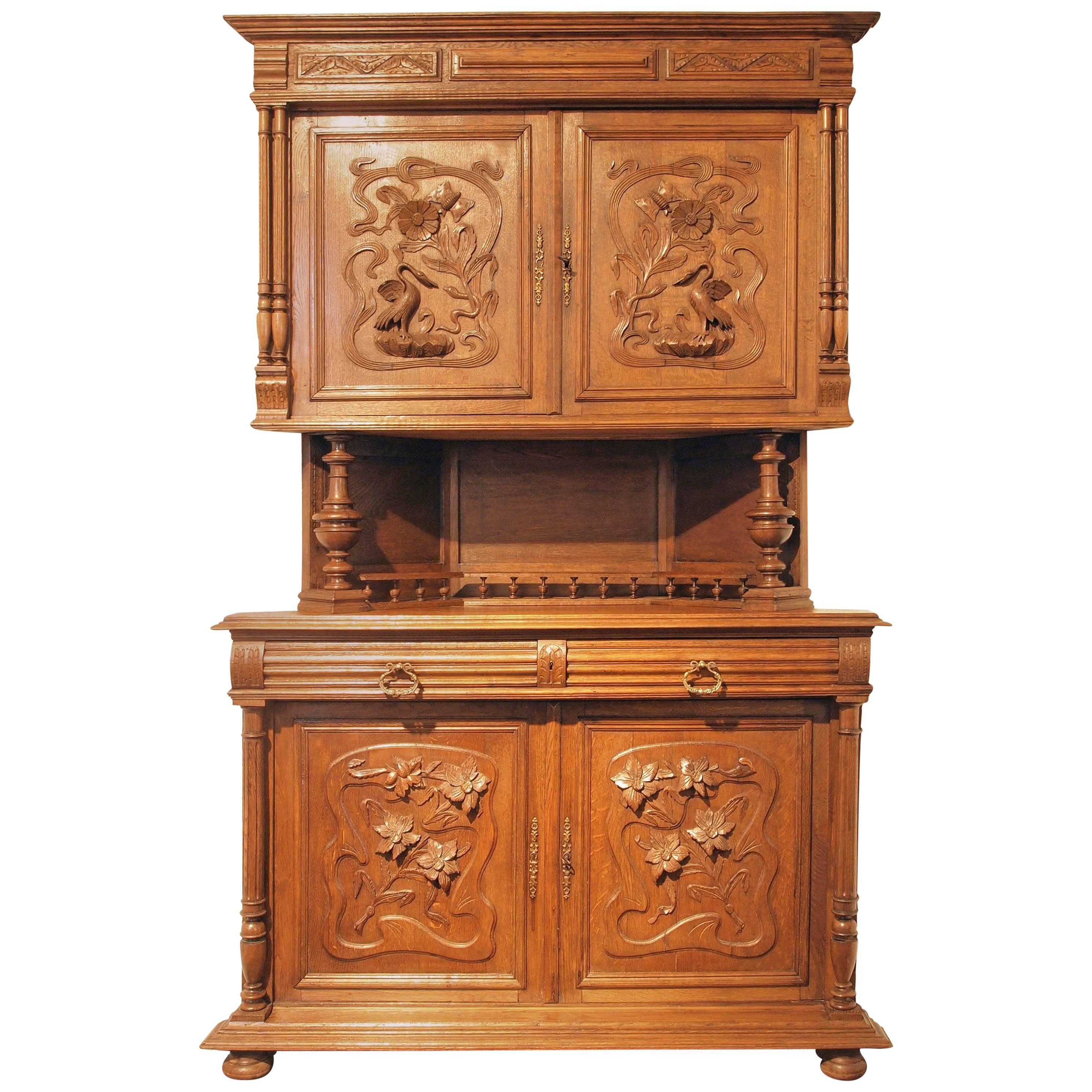 Picture of: Henry Ii Corner Oak Buffet For Sale At 1stdibs