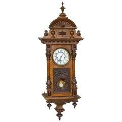 Henry II Style Pendulum Clock, 19th Century