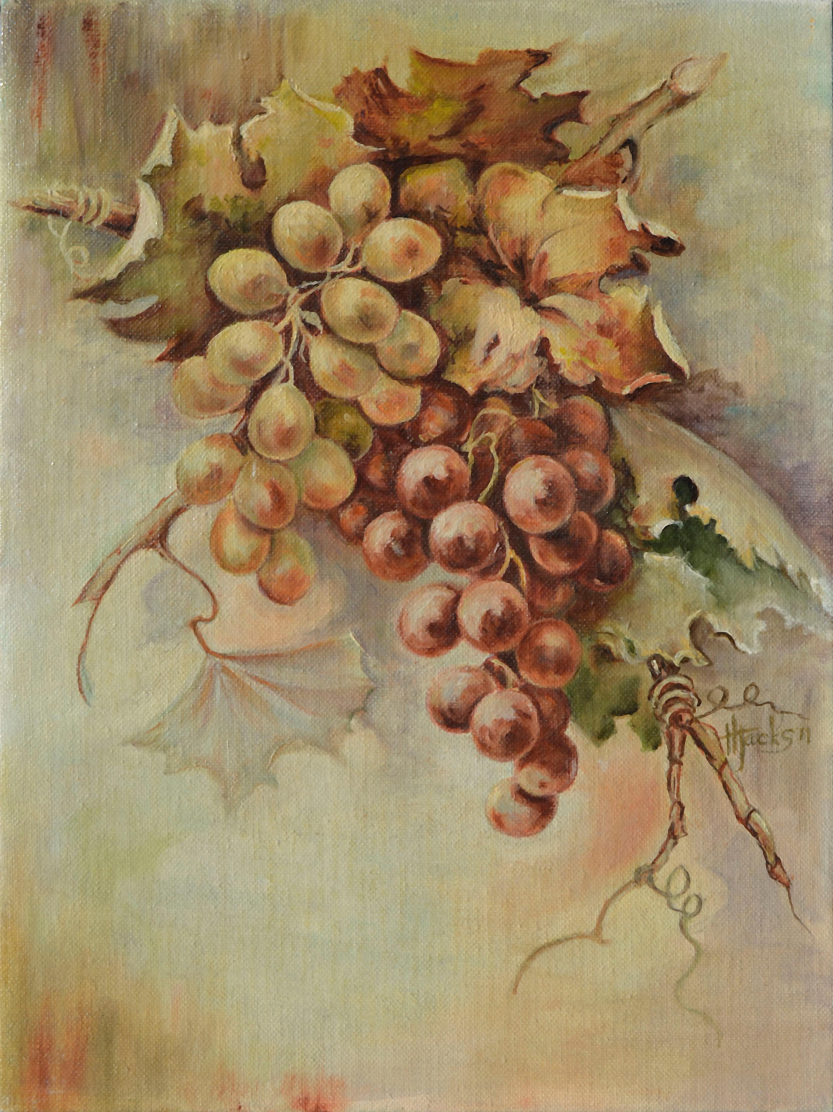 Mid Century Grapes Still Life