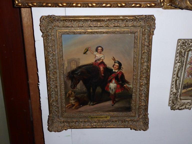Henry John Kinnaird (1880-1920) oil on panel frame measures 41 x 46cm.