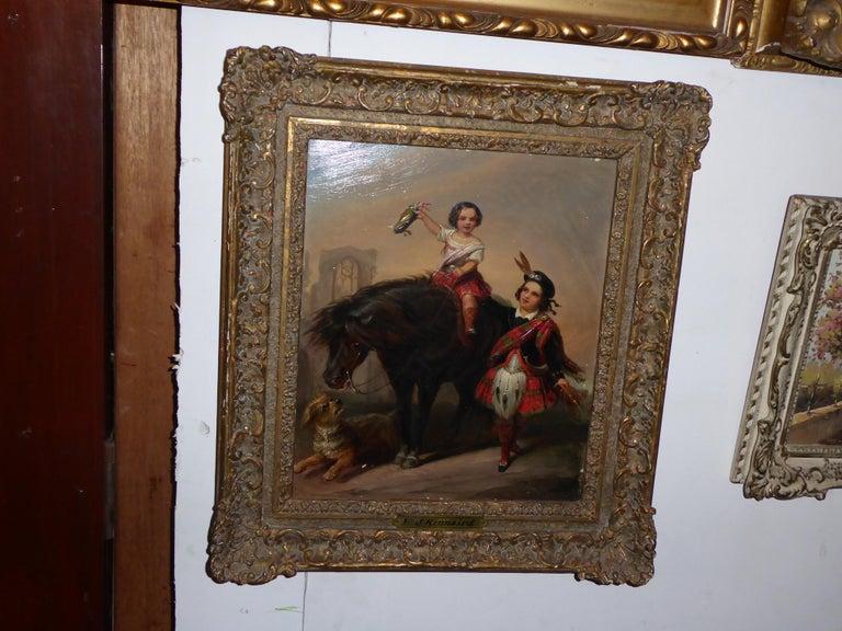 Painted Henry John Kinnaird Oilon Panel For Sale